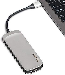 Kingston Nucleum USB C 集线器,C 型适配器连接 USB 3.0,HDMI,SD/microSD,用于 MacBook Pro 和其他 USB 类型 C 端口设备的电源通道
