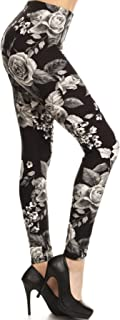 Leggings Depot 女士超软印花时尚打底裤 BAT30