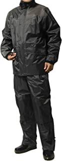 防雨套装 上下 男士 (耐水压:20000mmH2O) (肩部/下裆 加固加工) (袖口调节功能) (袖衬里网眼加工) LL 深灰色 AS-5400-LL