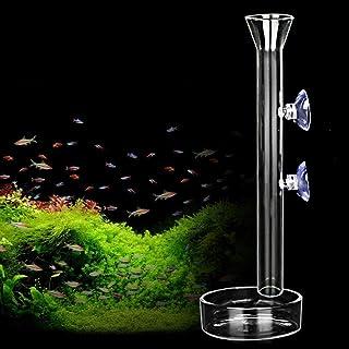AnxunJim 虾喂食管和盘子,透明水晶玻璃虾喂食器管托盘,适用于鱼缸水族馆虾(10 英寸)