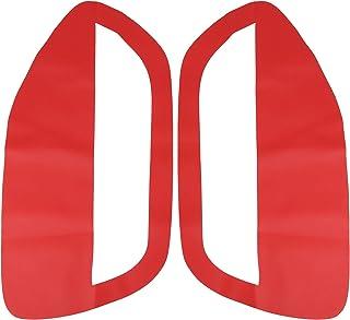 X AUTOHAUX 一对红色超细纤维皮革门板插入卡套适用于福特野马 2005-2009