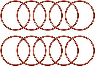 uxcell 硅胶 O 形圈,外径41毫米,内径36.2毫米,宽2.4毫米,VMQ密封圈,红色,10件