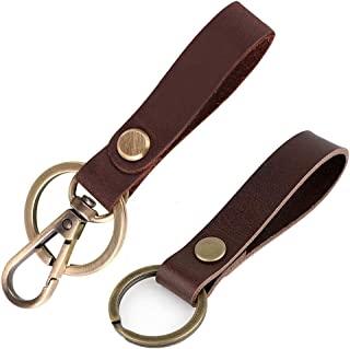皮革钥匙扣,真皮钥匙扣,高级古代皮革钥匙圈,复古皮带汽车钥匙扣,*礼物