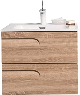 Eviva Joy 60.96 厘米枫木壁挂式浴室梳妆台 白色一体式
