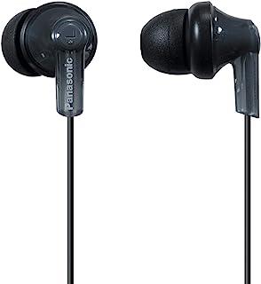 Panasonic 松下电器 ErgoFit入耳式耳机RP-HJE120K动态清晰的声音,符合人体工学的舒适贴合感,9毫米,黑色