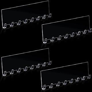 4 件 10 1/2 英寸(约 26.4 厘米)项链挂钩亚克力项链珠宝收纳架壁挂式珠宝挂有 8 个项链挂钩,手链