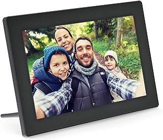 InLine® 数字WiFi相框 WiFRAME 10.1 英寸,1280 x 800 16:9 LCD IPS 触摸屏,Frameo APP 黑色