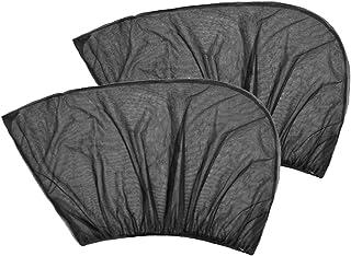 TRADERPLUS 2 件通用车窗帘弹性透气后侧汽车窗帘遮阳网罩