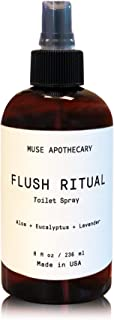 Muse Bath Apothecary Flush Ritual - 香味和清新沐浴喷雾,8 盎司,加入天然精油 - 芦荟 + 桉树 + 薰衣草 1包