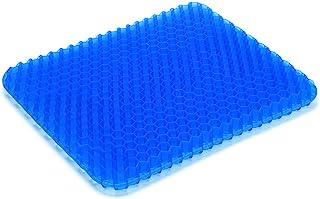 凝胶汽车座椅垫,透气蜂窝*缓解坐垫,适用于汽车办公椅轮椅,汽车座椅垫带防滑盖