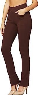 优质女式弹力正装裤带口袋 - 上班服 - 常规和加大码