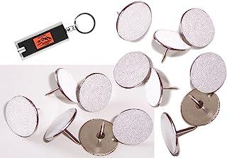 白色反光钉(100 个装)越野标记钉、发光钉、徒步标记、越野标记反光条、Mark Trail 反光拇指钉,用于狩猎,白色钉子