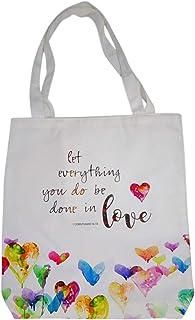 励志 Let Everything You Do Be Done In Love 手提袋带内袋,14 英寸