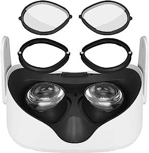 Eyglo 镜片保护框架,镜片防刮防蓝色镜片,保*镜,防止刮伤 VR 耳机兼容 Oculus Quest 2/Quest / Rift S