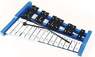 专业蓝色木制高音符钟琴木琴,带 25 个金属钥匙,适合成人和儿童 - 包括 2 个塑料击打器CA-TL25B
