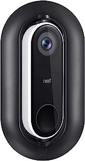防风雨、防紫外线墙板和可调节角度墙装套件适用于 Nest Hello 视频门铃 - 调整您的巢 Hello 从 0 ° 到 35 ° (黑色)