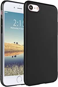 iPhone 7iphone 4手机壳 senhomtog 硬塑料修身外壳超轻全防护防震手机壳防刮外壳适用于 iphone 7iphone 825.4CM ) 黑色