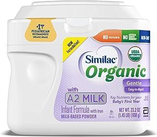 Abbott 雅培 Similac 铂优恩美力 Organic A2婴儿奶粉,温和易消吸收,为婴儿的头一年提供关键的营养成分,不含棕榈油,Non-GMO,23.2盎司罐装,658克