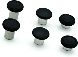 PartEGG 原装 6 合 1 替换拇指棒套装 适用于 Xbox One Elite 控制器/ PS4 DualShock 4 控制器/ Xbox One 控制器模拟棒黑色