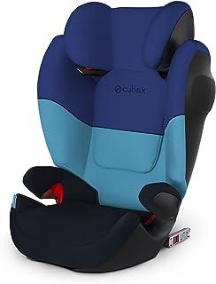 Cybex Silver Solution M-Fix SL 儿童汽车座椅,带斜倚头枕和 ISOFIX 兼容,组 2/3(15-36 千克),约 3 至 12 岁,Blue Moon