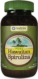 Nutrex 纯夏威夷螺旋藻-500毫克400片-来自夏威夷的天然优质螺旋藻-素食食品补充剂和天然复合维生素