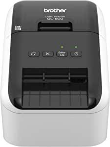 Brother QL-800 高速专业标签打印机 闪电快速打印 即插即用功能 Brother Genuine DK 预制标签 多系统 兼容黑红打印