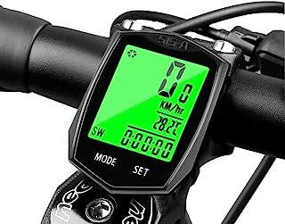 SEISSO 无线自行车电脑里程表,多功能防水自行车秒表,带 LCD 显示屏,背光循环速度跟踪器,方便用于骑行旅行爱好者