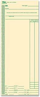 "TOPS 时卡,每周,一边,3-3/8"" x 8-1/4"",马尼拉,绿色打印,100 张 (12613)"