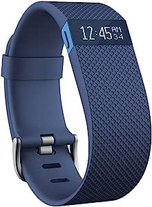 Fitbit Charge HR 智能手环 心率实时监测 自动睡眠记录 来电显示 运动蓝牙手表计步器 蓝色 L FB405BUL-CN