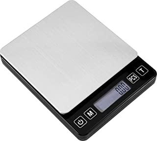 数字邮政秤 - 0.01g/500g 小型便携式电子口袋秤带背光液晶显示屏小型便携式电子精密秤(黑色)
