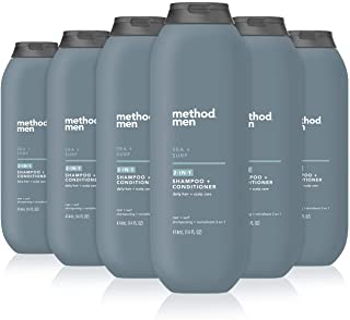 Method 男士二合一洗发水 + 护发素,海洋 + 冲浪,6 件装