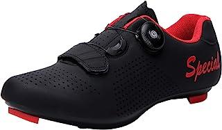 Yutoey 女式公路自行车鞋兼容防滑钉锁运动踏板自行车鞋