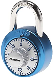 Master Lock 1561DAST Combination Dial Padlock with Aluminum Cover, 1-7/8-Inch Wide Body, 9/32-Inch Diameter Shackle, Color...