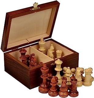 Staunton No. 4 个锦标赛国际象棋 w/ 木质盒 Wegiel 出品