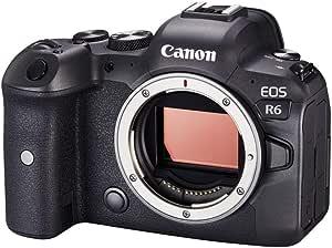 Canon 佳能 EOS R6 全画幅系统相机 - 外壳(防反光,20.1 MP,4K UHD,5 轴图像稳定器,7.5 厘米(3.0 英寸)LCD II,WLAN,蓝牙,USB 3.1,双像素 CMOS AF II)黑色