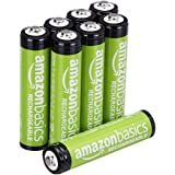 AmazonBasics 预充电可充电电池800 mAh / 低至: 750 mAh [8件装] - 保护套可能会有所不…