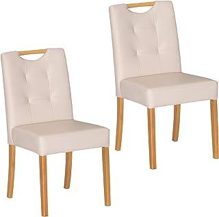 Tamaliving 餐椅 自然 [椅子2支套装] 玫瑰 50004137 【商品尺寸】宽42×深52×高81cm(坐高42)