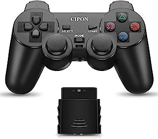PS2 无线控制器,CIPON 2.4G 双振动控制遥控器,适用于索尼Playstation 2