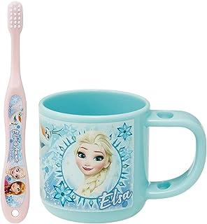 Skater 斯凯达 牙刷 水杯 套装 带牙刷支架杯 3-5岁幼儿园儿童用 安娜和雪女王 2 迪士尼 180ml 14.5cm KTB5
