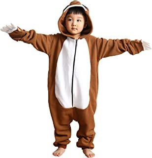 儿童动物针织睡衣连体万圣节服装拉链睡衣