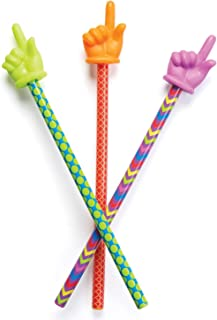 Learning Resources 手指形状指挥棒,教室里的小助手,多种颜色,3个,适合3岁以上的人群