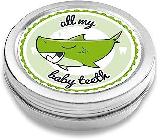 Doctors 婴儿牙盒纪念品,鲨鱼亨利,复古牙齿仙女纪念品盒,带螺丝盖,银色,男婴派对礼物 *