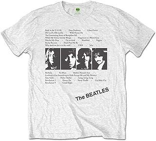 男士 The Beatles White Album Tracks(背面印花)T 恤