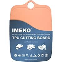 IMEKO 新款 2019 厨房人体工程学设计 TPU 砧板 - 柔韧、食品*,不含 BPA、*切碎垫 橙色