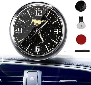 YUNONG 汽车仪表板星星时钟室内装饰高精度石英夜光表盘带通风孔夹,适合所有汽车