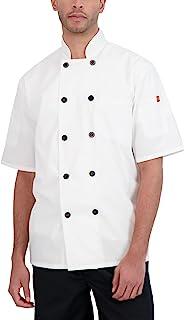 Happy Chef 男式 Reactor 短袖轻质厨师外套