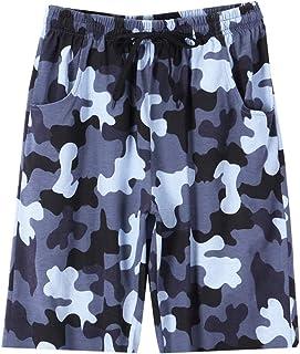 UQ 儿童 Coton 睡衣短裤夏季*下装迷彩印花染色大童装