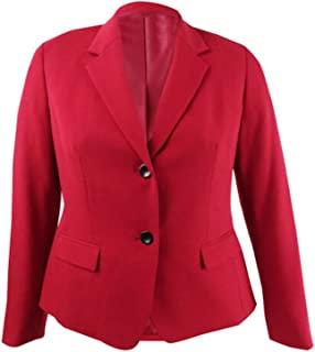 Kasper 女式红色西装外套工作外套尺码 4