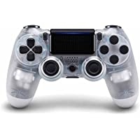 PS4 游戏控制器,Playstation 4 无线控制器,带双振动操纵杆(透明白色)