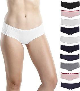 Emprella 女式平角内裤,5 条装,女式棉质内裤男孩短裤一脚蹬